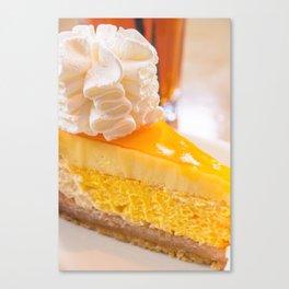 Cheesecake #food #dessert #sweets Canvas Print