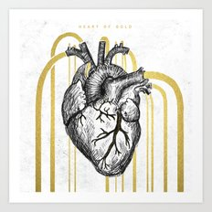 Heart of Gold Art Print