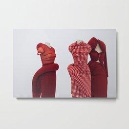 Comme des Garçon fashion (red) Metal Print