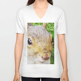 The many faces of Squirrel 5 Unisex V-Neck