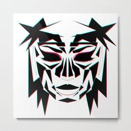 Ancient Face Metal Print