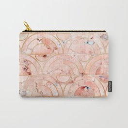 Peachy Marble (foor) Carry-All Pouch