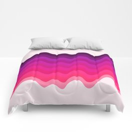 Retro Ripple in Pinks Comforters