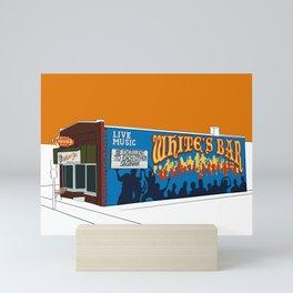 White's Bar- Burnt Orange Mini Art Print
