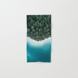 Green and Blue Symmetry - Landscape Photography Hand & Bath Towel