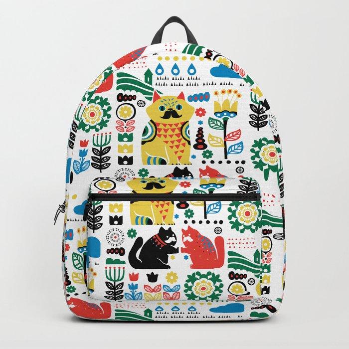 Scandinavian Cats Backpack
