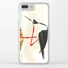 Long-legged Avocet Clear iPhone Case