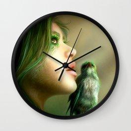 Green Whisper Wall Clock