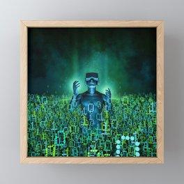 Virtual Dawn Framed Mini Art Print