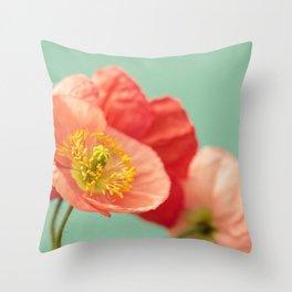 Pastel Poppy #1 Throw Pillow