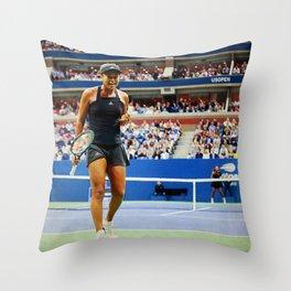 Naomi Osaka Tennis Champion Throw Pillow