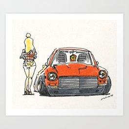 Crazy Car Art 0131 Art Print