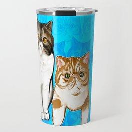 Puffy and Caesar  Travel Mug