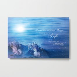 Anais Nin & Dolphins Metal Print