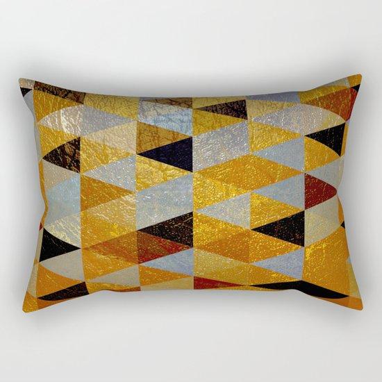 Abstract #382 Copper Foil Rectangular Pillow
