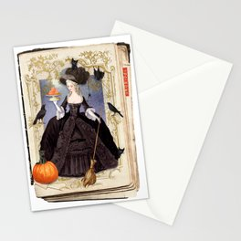 Halloween Witch Pumpkin Macarons Stationery Cards