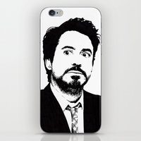 robert downey jr iPhone & iPod Skins featuring Robert Downey Jr. by ItalianBrush