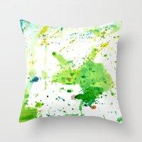 atlas Throw Pillows featuring atlas by agnes Trachet