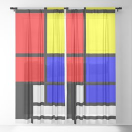Mondrianista Sheer Curtain