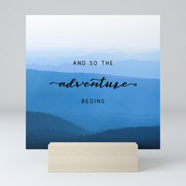 Smoky Mountains -  And So The Adventure Begins Mini Art Print