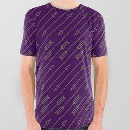 Arrows Flying (Purple) All Over Graphic Tee