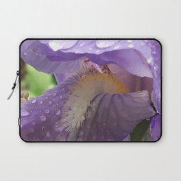 Raindrops on Iris Laptop Sleeve