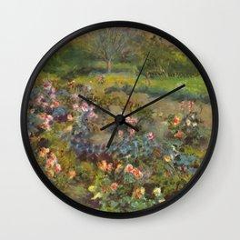 "Auguste Renoir ""Rose Garden"" Wall Clock"