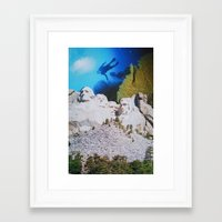 rushmore Framed Art Prints featuring Mount Rushmore by John Turck