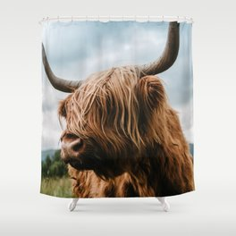 Scottish Highland Cattle - Animal Photography Shower Curtain