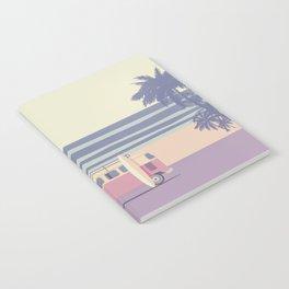 Surfer Graphic Beach Palm-Tree Camper-Van II Notebook