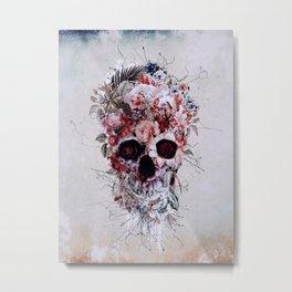 Floral Skull RPE Metal Print