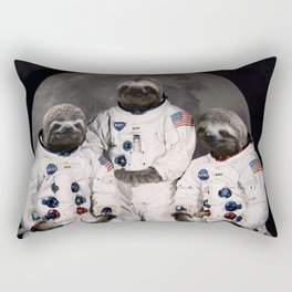 Astronaut Sloths on the way to the moon Rectangular Pillow