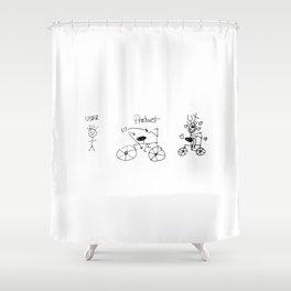 UX/UI Bike Sketch - User Experience Rocks Shower Curtain