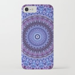 Mandala in violet and blue tones iPhone Case