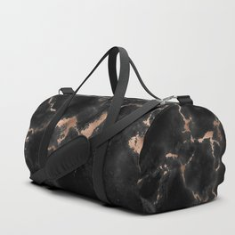 Rose Gold and Black Marble Duffle Bag