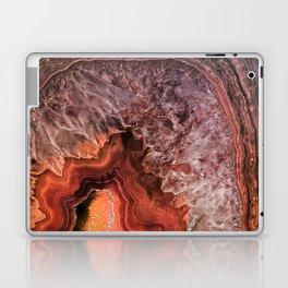 Copper Brown Agate Mineral Gemstone Geode Laptop & iPad Skin