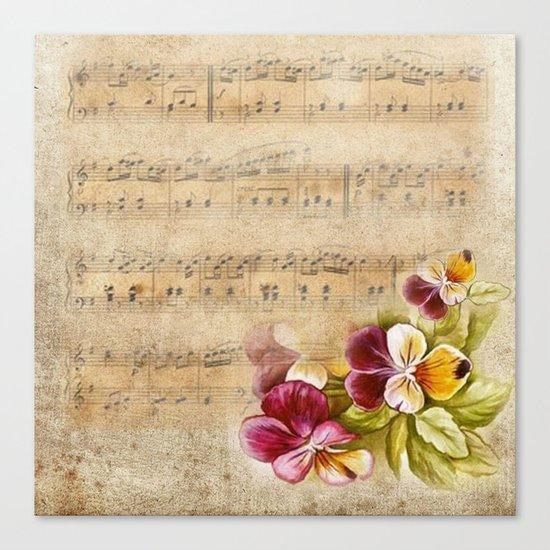 Vintage music #7 Canvas Print