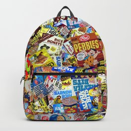 Cereal Boxes Collage Backpack