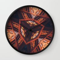 industrial Wall Clocks featuring Industrial Labyrinth by Phil Perkins