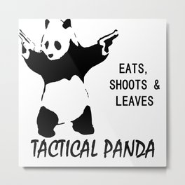 tactical panda Metal Print