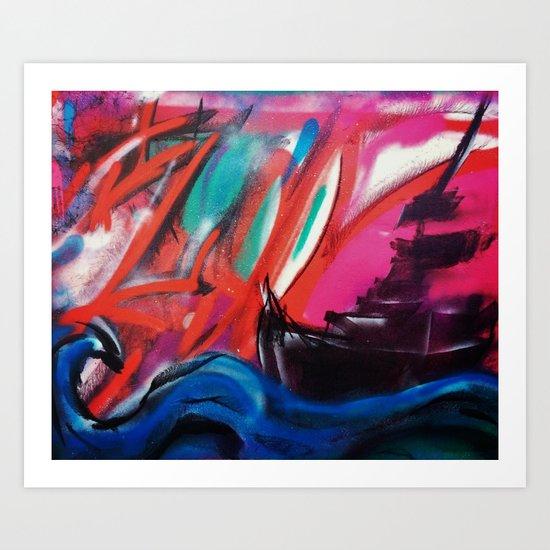 The Sunset Ship Art Print