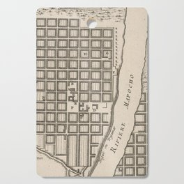 Vintage Map of Santiago Chile (1764) Cutting Board
