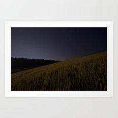 Iowa Prairie at Night  Art Print