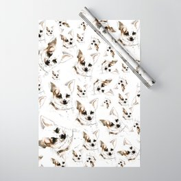 Chihuahua Watercolor Wrapping Paper