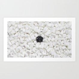 Sugar cubes & Tiny Tiny Camera Art Print