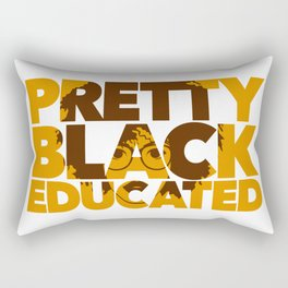 Pretty Black Educated African American College Woman Rectangular Pillow