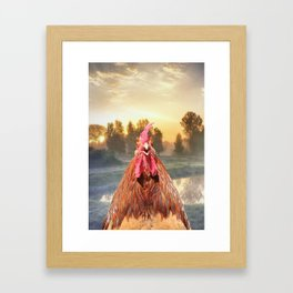 Rise and Shine - Whimsical rooster series #1 Framed Art Print