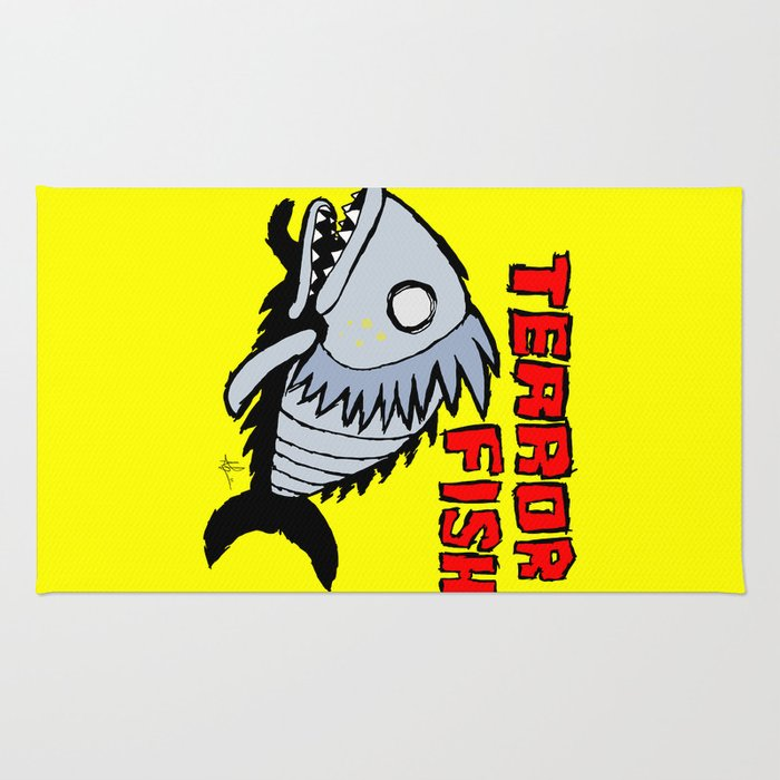 Terror fish Rug