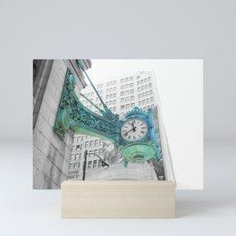 The Blue Chicago Clock Mini Art Print