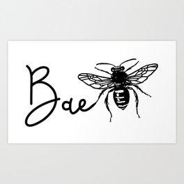 BAE Bee Baby Pun Love Art Print